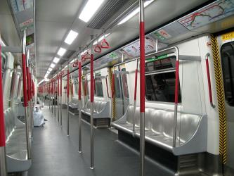 Interior of Hong Kong Metro