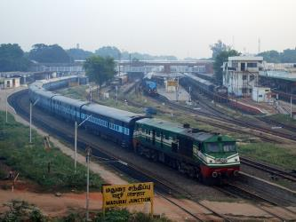 Train at Madurai Junction