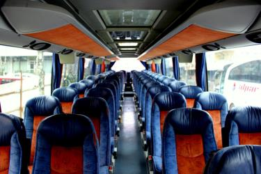 Setra bus interior seating