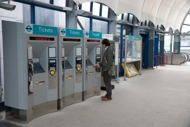 DLR ticket machines