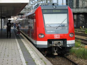 MVV S-Bahn at the station