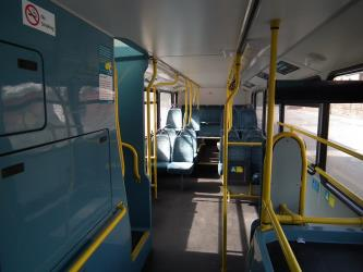 Lower level seating on double decker bus