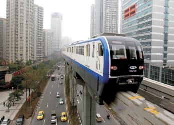 Monorail metro train