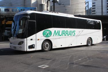 Murrays coach in Flinders St, 2013