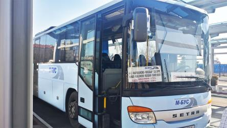 Setra bus front and side view