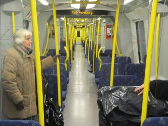 Interior of Tunnelbana train