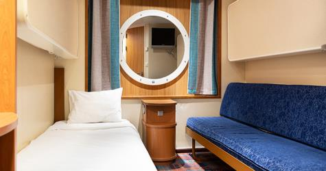 E-Class cabin on the Baltic Princess