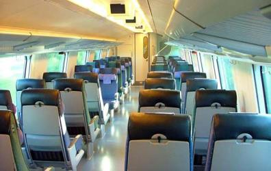 nterior view of the top deck of a VR InterCity2 double-deck carriage