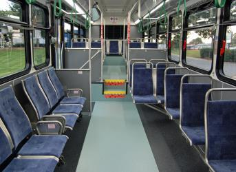 Inside CATS bus