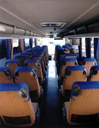 Bus seating from the rear