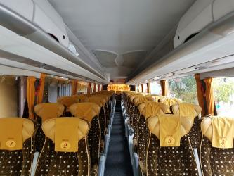 Bus seating from the front