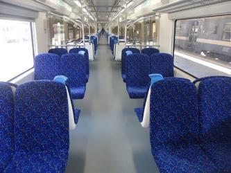 Interior of the new electric trains