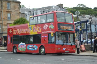 City Sightseeing Bute open-top bus