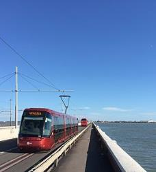 ACTV Tram on bridge