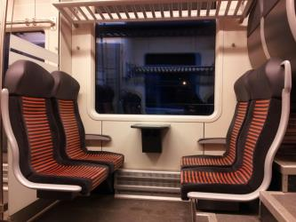 Seats in Elron train