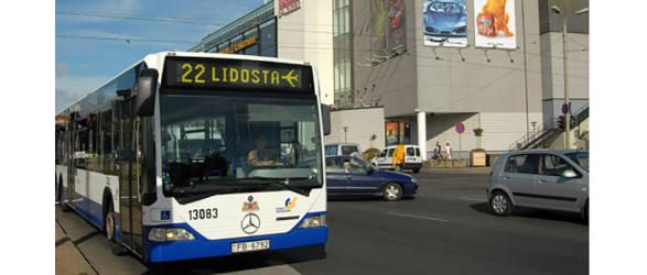 Airport bus in Riga