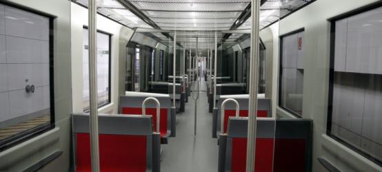 Inside of Metro Bilbao Train