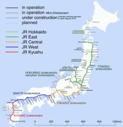JR Shinkansen Rail Map