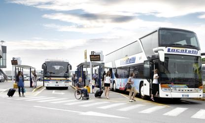 Buses at the airport