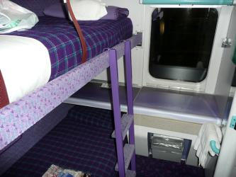 Sleeping cabin in a Mark 3 sleeper