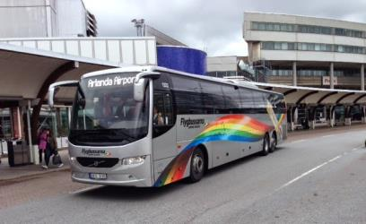 Bus at Arlanda airport