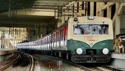 MRTS train in Chennai