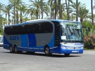 Modern exterior of Alsa Bus