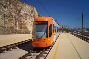 Bombardier orange tram
