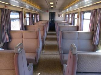 Interior of DSB train