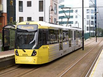 M5000 at Exchange Quay tram stop