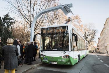 Electric bus in Graz