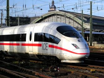 Exterior of DB Intercity Express (ICE)