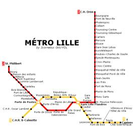 Map of Lille Metro