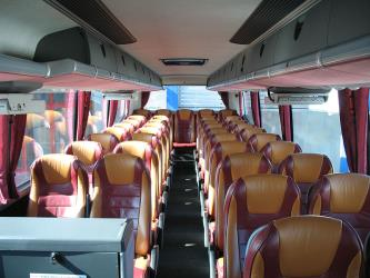 Interior of Orangeways bus