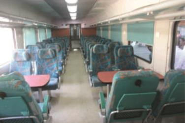 Inside Agra-Jaipur train