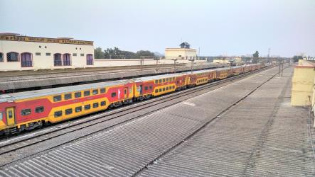 Train at Katpadi Junction