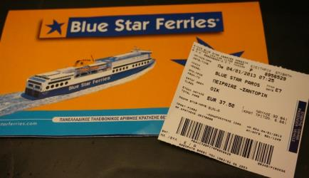 A Blue Star Ferry ticket
