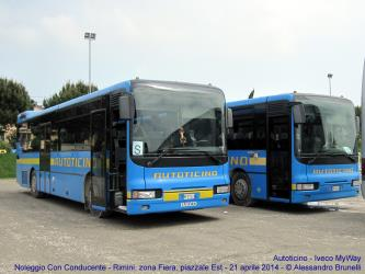 Buses front and side view