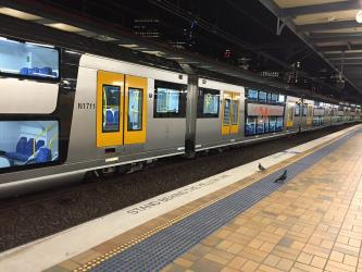 Train at Sydney Central station