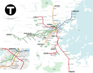 MBTA Route Map