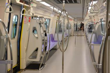 Interior of Taoyuan Airport MRT Commuter Train