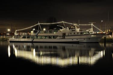 Ferry in the night