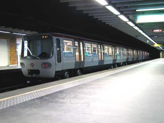 Train at Lyon Metro station