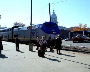 Train exterior in Illinois