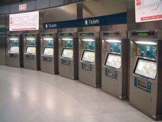 SMRT Ticket machines