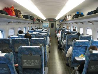 Interior of Shinkansen