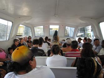 Interior of Water Taxi