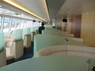 Interior of Natchan World Ferry
