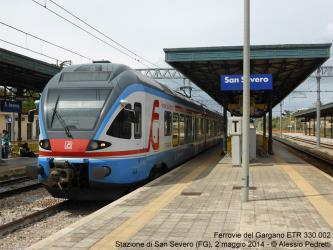 Electric train at the San Severo station
