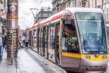 Luas tram stop at Abbey Street